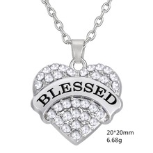 my shape 20*20mm blessed best wish gift necklace