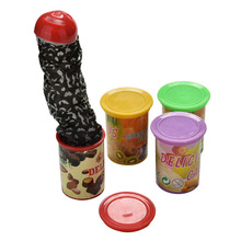 1PCS New Funny Trick Frighten For Magic Candy Jar Jump Out Toys With Voice Strange Jar Gags  5-7 Years Old Practical Jokes