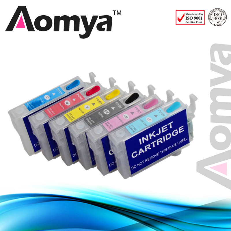 6 pcs T0481 Refill Ink Cartridge Compatiable FOR EPSON R200 R220 R300 R300M R320 R340 RX500 RX600 RX620 RX640 with Chip<br><br>Aliexpress