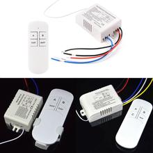 1pc 1/2/3 Ways 220V Lamp Remote Control Wireless ON/OFF 220V Lamp Remote Control Switch Receiver Transmitter For Light Bulb A391(China)