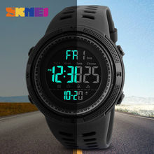 SKMEI Brand Men's Fashion Sports Watches Chrono Countdown Men Waterproof Digital Watch Man military Clock Relogio Masculino(China)