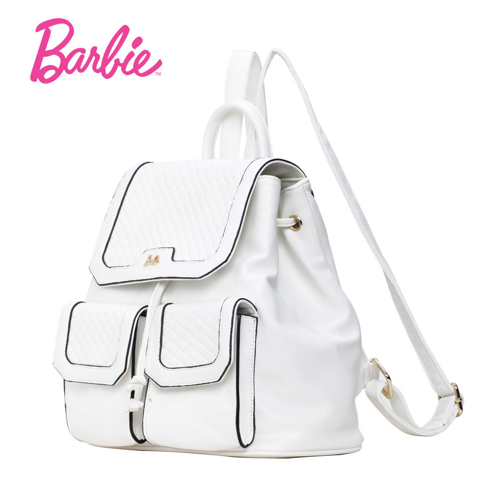 Barbie Women backBags girls white stripe backpack Student Bag Fashion Trend Brief Bag For Ladies big volume three packets <br>