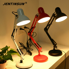 Long Folding Arm Table Desk Reading Lamp Flexible LED Robot Style Lights for Office Study Bedroom Book Read luminaria de mesa(China)
