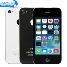 "Promotion Original Unlocked Apple iphone 4S Cell phones 3.5"" Retina IPS 16GB ROM Mobile Phone 8MP 1080P WCDMA GPS IOS Phone(China)"