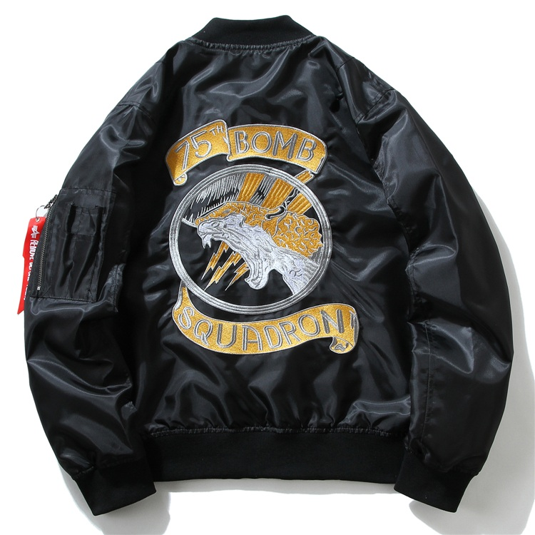 Embroidery Dragon Bomber Jackets 1