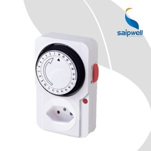 2 pcs/lot 10A  230V~ , Switzerland Type 24 Hours Mechanical Timer /   Timer  Socket  Energy Saving Power Controller  (SP-TS-22A)