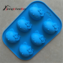 Cute Hello Kitty Shape Mold Sugar Arts Set Fondant Cake Tools/Cookie Mold Hello Kitty Cake Mold