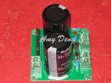 High-end single power rectifier filter 2 way outputs with fuse power amplifier board 2 * 10000UF / 63V