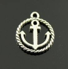 100pcs Antique Silver tone/Antique Bronze Filigree Round Anchor Connector Pendant Charm/Finding,DIY Accessory Jewelery Mak
