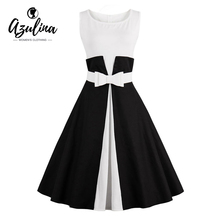 Buy AZULINA Plus Size 50s 4XL New Vintage summer Women Dress O Neck Belt Retro Robe Rockabilly Feminino Vestidos Tunic Party dresses for $15.24 in AliExpress store