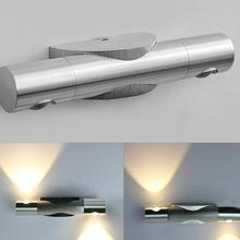 Warm White/White 6W LED Wall Light ,pure Aluminum Wall Lamps with short circuit protection,sure it safe to use