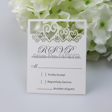 50pcs Cut out Rose Hearts RSVP Cards Wishing Well Cards With Blank Envelopes
