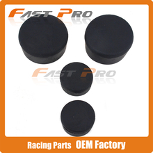 4pcs Motorbike Rubber Frame Plugs Cover Protector for 2004-2007 04 05 06 07 Kawasaki Ninja ZX10R Motorcycle Parts(China)
