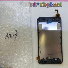 For Lenovo A319 Mobile Phone LCD Display + Touch Screen Digitizer Assembly With Frame Free Shipping+Track Number