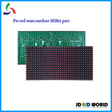 P10 red single color semi-outdoor led display sign unit module 320MM*160MM 32*16 pixels HUB12(China)