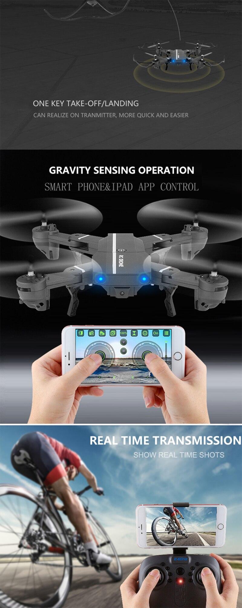 Wifi FPV RC Quadcopter 8807 G-sensor Altitude Hold Foldable Selfie APP remote control RC Drones With 480p 720P HD Camera vs H37