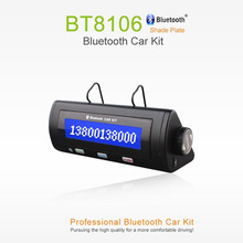Wireless Bluetooth Car Kit Stereo Handsfree Speakerphone LCM display With Noise-Reducing DSP full-duplex talking on the sunvisor()