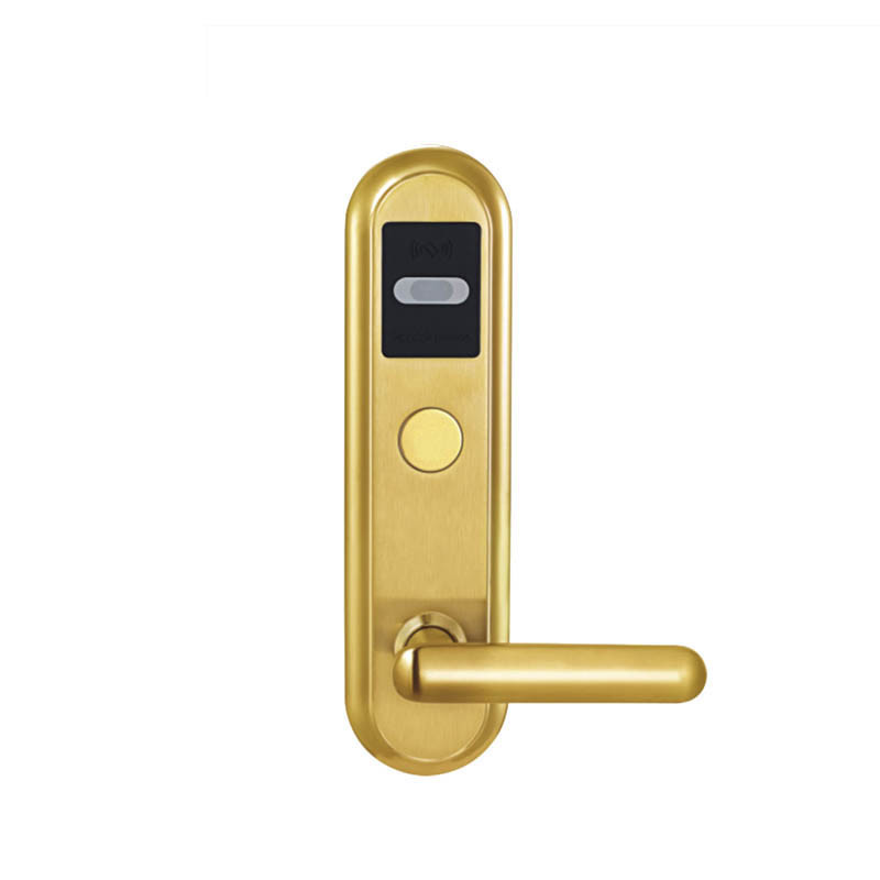 L&amp;S SL16-017BG-4 Hotel Card Door Lock Digital Smart Electronic RF Card For Office Apartment ANSI 5 Latches Mortise Gold<br><br>Aliexpress