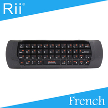 [Free Shipping] Original Rii i25 2.4G Wireless French Version Mini Keyboard/Air Mouse for Android TV/PC High Quality