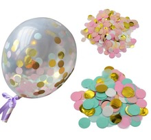 Confetti Balloons 5Inch, Party Balloons, Tissue Paper Confetti Party Decorations Party Supply Birthday Diy Balloon Kit