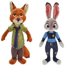 Zootopia Judy Hopps Nick Wilde 23&30cm good quality plush stuffe toys doll for children kid gift Dolls & Stuffed Toys. PY061