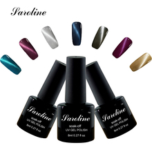 Saroline UV LED lucky colort Cat Eye Gel 3D Nail Polish Professional Manicure Kit cheap Gel Lacquer Varnish