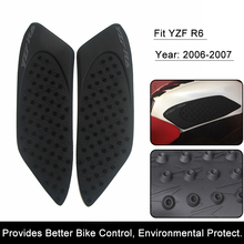 For Yamaha R6 2006 2007 YZF-R6 Motorcycle Anti slip Tank Pad 3M Side Gas Knee Grip Traction Pads Protector Sticker