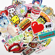 100 pcs car-styling JDM supreme stickekr emoji Diamond pet sticker for car accessories and laptop DIY vespa body car-covers