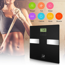 Smart Touch 400 lb/0.1kg Digital Scales Smart Weight Measure Track Body Weight,BMI,Fat,Water,Calories, Muscle,Bone Mass Bathroom