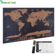 1 pcs New arrival Deluxe Scratch off World Map Personalized World Scratch off Map Mini Scratch Off Foil Layer Coating Poster(China)