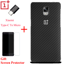 100% Original Oneplus 3T Case Synthetic Fiber A3000 Oneplus 3 One Plus 3t Screen Protector Cover Case with Xiaomi Type C Adapter