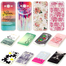 Cartoon Painting Soft phone back cover capa For J200 Never Stop dreaming Pink flower pattern Shell For samsung Galaxy J2 case
