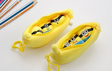 1X Super Cute Yellow Minions Little 13CM Pea Beans Plush DOLL , Stuffed toy Key Hook Pendant Decor TOY