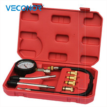 VECONOR 8 Pcs spark plug cylinder compression tester test kit professional gas engine set(China)
