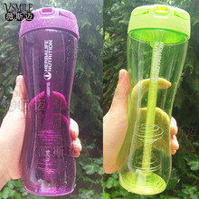 2 Color Green Purple 500ml Herbalife Sports Transparent Drinking Straw Type Shake Water Bottles Camping Supplies Drinkware(China)