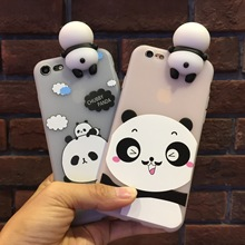 10 PIECES/LOT Lovely Cartoon Pandas Phone Case For iPhone Wholesale Cheapest Soft TPU Silicone Panda Phone Cover