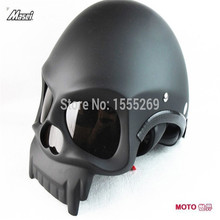 Free delivery Masei motorcycle helmet fashion cool 3D skull half face helmets MOTO helmet approved point M / L / XL