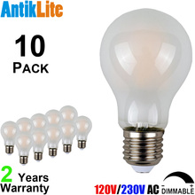 25W 40W 60W Equal E26/E27 Frosted Vintage Edison LED Bulb A60 A19 Incandescent Style 4W 6W 8W LED Antique Filament Light Bulb