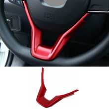 pcmos ABS Steering Wheel Middle Air Vent Outlet Trim Fit For Honda Accord 10th 2018 Sticker Interior Mouldings Accessories Red(China)
