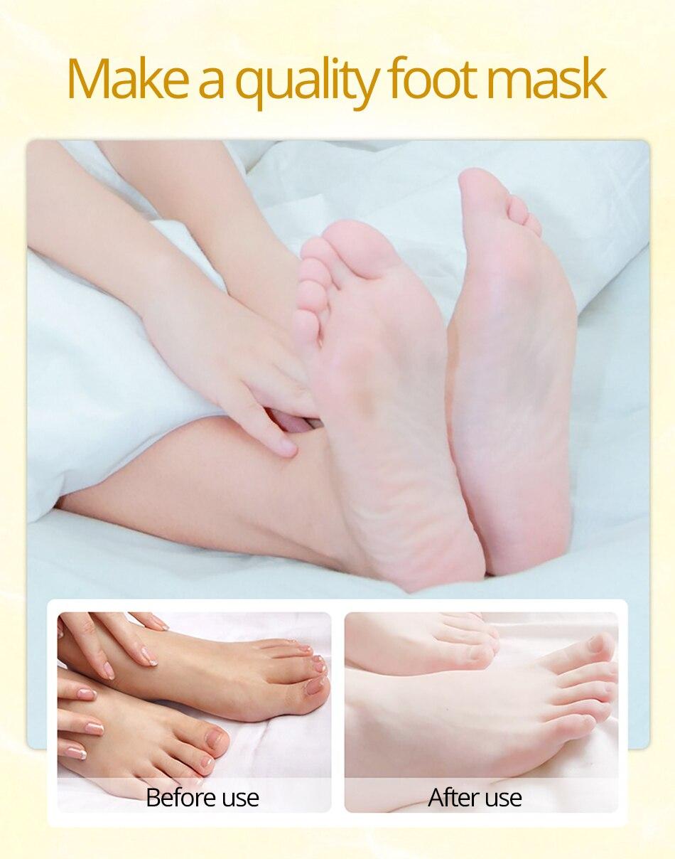 Sonnig 3 Packs = 6 Stücke Baby Fuß Peeling Erneuerung Fuß Maske Für Beine Entfernen Abgestorbene Haut Glatt Peeling Socken Fuß Pflege Socken Für Pediküre Füße Schönheit & Gesundheit