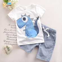 Summer Baby Boy Clothes Sets 100% Cotton t shirt+Shorts Kids Clothes Cartoon Pattern Children Clothing Set Costume for Kids