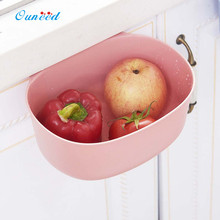 Ouneed Kitchen Hanging Trash Rack Environmental Cabinet Door Drawer Storage Garbage Boxs Green,Pink,Blue 1PC