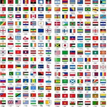 12 PCS/set (choose any 12 countries) All 209 countries flag Waterproof Reflective Stickers for Car Bicycle Laptop Trunk Face