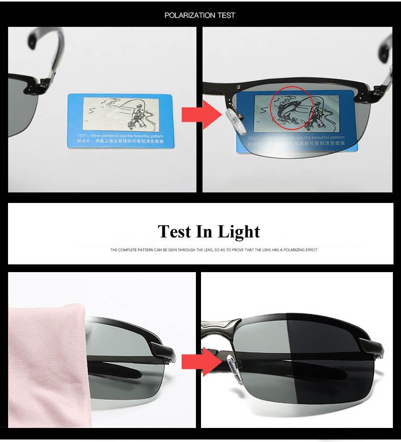 RoShari New photochromic Sunglasses men top quality All-weather Discoloration Professional driving Sun glasses men oculos D3043 9