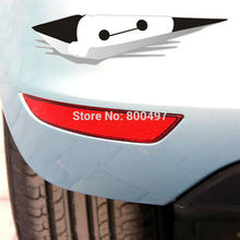 10 x Funny Big Hero 6 Baymax Peering Car Sticker Decal Car Body for Tesla Toyota Ford Chevrolet Volkswagen Kia Lada(China)