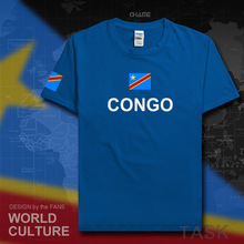 DR Congo men t shirt 2017 jersey nation 100% cotton t-shirt clothing tees country sporting COD DRC DROC Congo-Kinsha Congolese