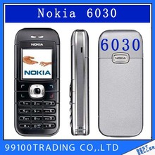 6030  Unlocked NOKIA 6030 mobile phone FM JAVA MP3 Cheap Cell phone free shipping  refurbished 1 year warranty
