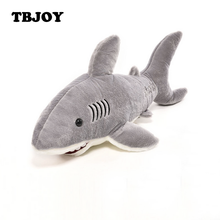 1Pc Creative Kawaii Soft Plush Stuffed Appease Toys Marine Animal Gray Shark Dolls Pillow Birthday Gift Kids Toys for Children(China)