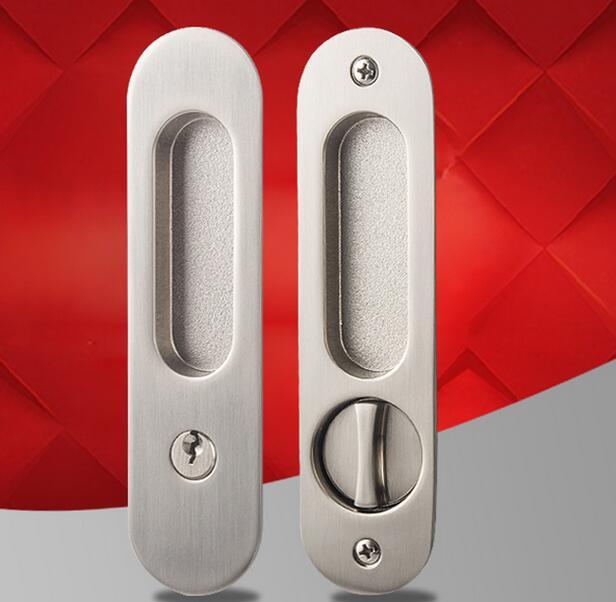 The bedroom door concealed handle sliding door installation Ming dark handle<br>