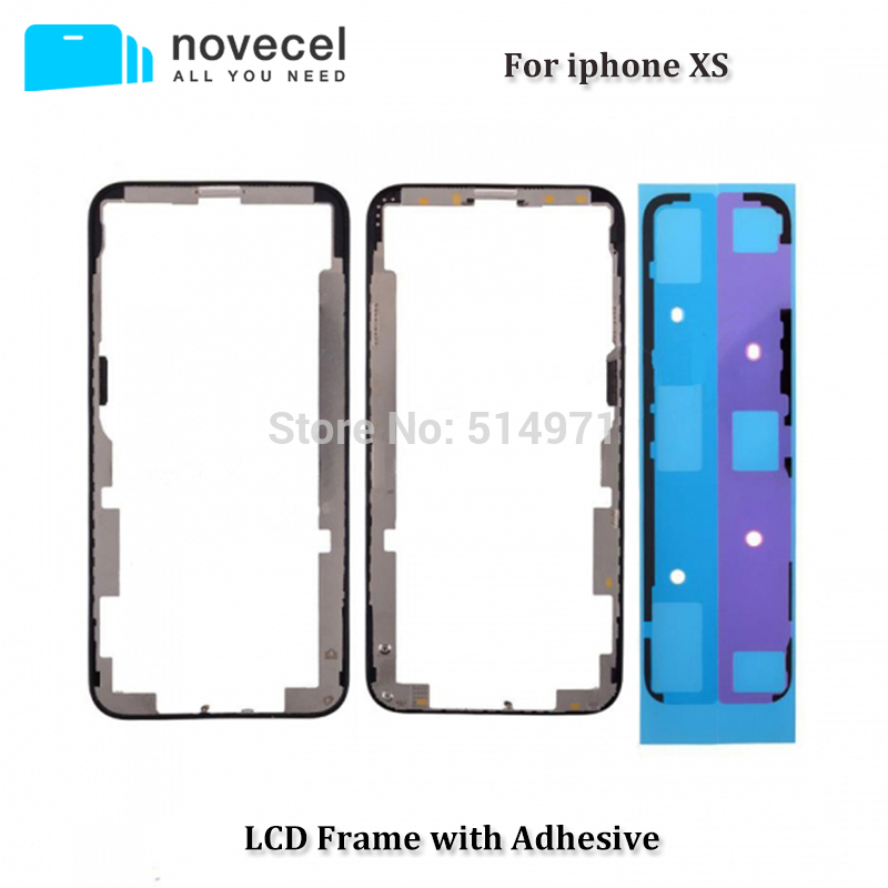 1 set Top Quality ORI Front Bezel Frame + Adhesive Tape + Metal Plate for iPhone XS LCD Middle Frame Black
